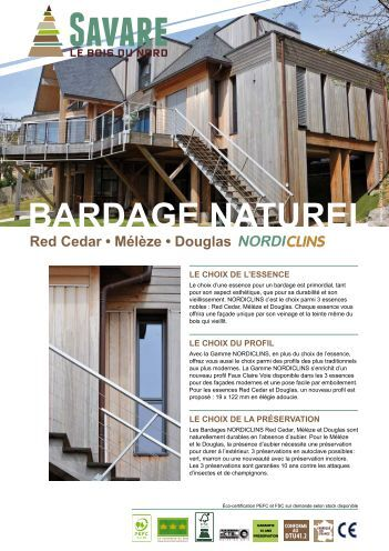 4 free magazines from savare fr - Bardage red cedar ...