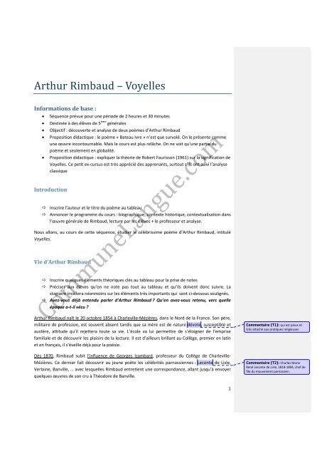 Arthur Rimbaud Voyelles