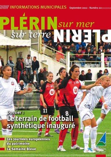 Le terrain de football synthétique inauguré - Ville de Plérin