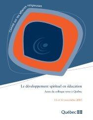 Le développement spirituel en éducation - Faculté de théologie et ...