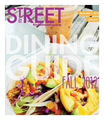 1105 Dining Guide - 34th Street Magazine