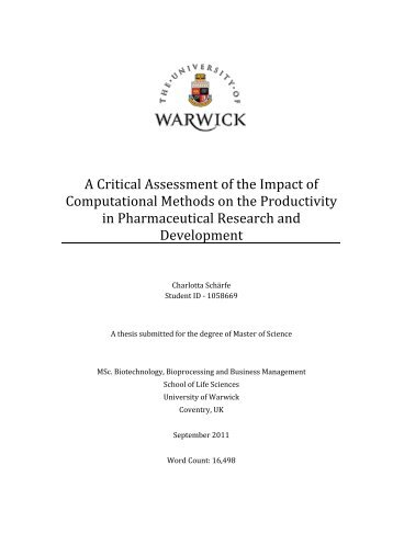 A Critical Assessment of the Impact of Computational Methods on ...