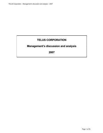 telus annual report analysis Find the latest analyst research for telus corporation (tu) at nasdaqcom  stock analysis analyst research guru analysis stock reports  call transcripts annual report income statement .