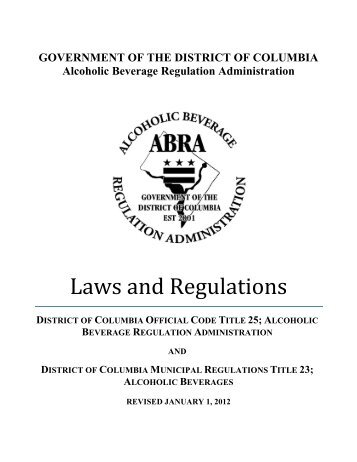 Laws and Regulations - DC Brew Law