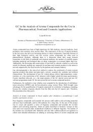 GC in the Analysis of Aroma Compounds for the Use in ...