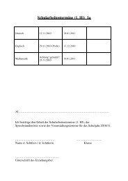Schularbeitentermine (1. Hj) 1a - Abteigymnasium Seckau