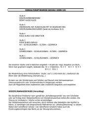 VERHALTENSPYRAMIDE SECKAU (2009/10) Stufe 6 ...