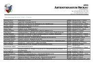 Lehrerliste mit Raumeinteilung (pdf)... - Abteigymnasium Seckau