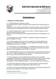 Schulordnung (Stand Sep 2012) (pdf) - Abteigymnasium Seckau