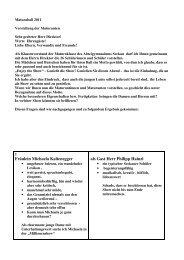 Fräulein Michaela Kaltenegger als Gast Herr Philipp Hainzl