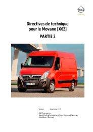 Directives de technique pour le Movano [X62] PARTIE 2 - Opel