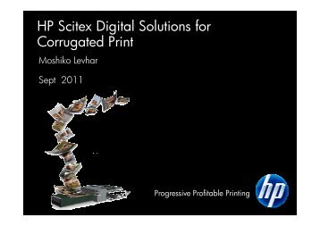 HP Scitex Digital Solutions for Corrugated Print