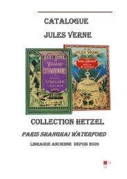 Catalogue Jules Verne Collection hetzel - PSW Livres Anciens