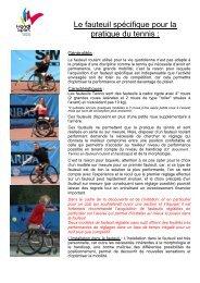 Le fauteuil roulant - Page d'accueil - TENNIS HANDISPORT