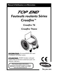 Fauteuils roulants Séries Crossfire™ - Invacare