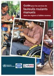 fauteuils roulants manuels - World Health Organization