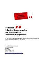 Destination Schweizer Reiseveranstalter und Busunternehmer mit ...