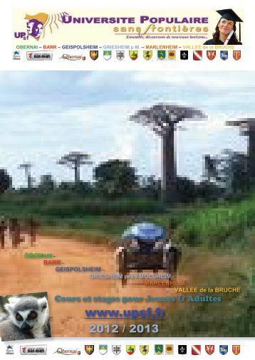 Brochure 2012 / 2013 - UPsf - Université Populaire Sans Frontières