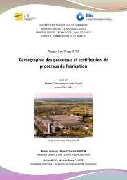 Cartographie des processus et certification de processus de ... - UTC
