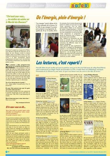 Zivacité n°32 Novembre-Décembre 2012 - Montlouis-sur-Loire