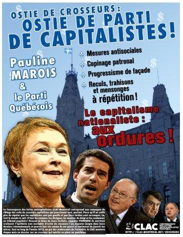 Consultez le CV complet de Pauline Marois, ostie de ... - CLAC