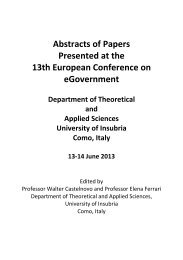 Abstracts of Papers - Academic Conferences