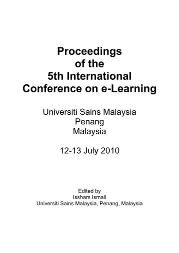 Proceedings of the 5th International Conference on e-Learning