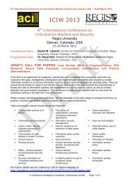 ICIW 2013 8th International Conference on Information Warfare and ...