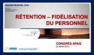 Rétention – Fidélisation du personnel