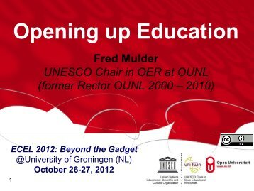 'Opening up Education' (OuE) - Academic Conferences Limited