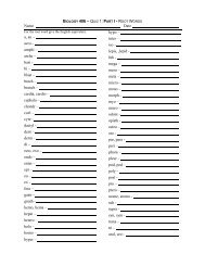 BIOLOGY 406 – QUIZ 1: PART I - ROOT WORDS Name ... - Regis