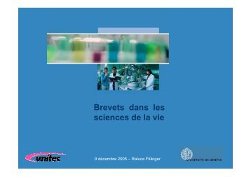 Brevets dans les sciences de la vie - Frontiers in Genetics