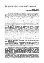 Les brevets, acteurs nouveaux de la croissance - Le Cercle des ...