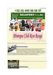 LA ROSE RENTRE BREDOUILLE EN FEDERAL 1 ... - Belsport