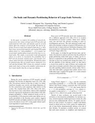 On Static and Dynamic Partitioning Behavior of Large-Scale Networks