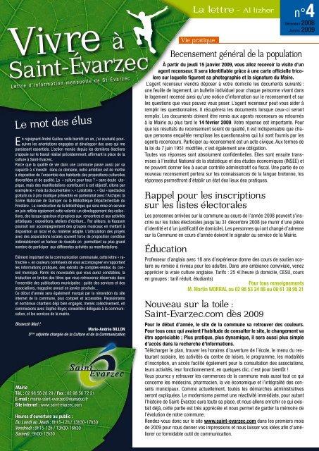 janvier 2009 - Saint-Evarzec