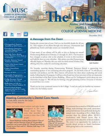 James B. Edwards College of Dental Medicine Newsletter - Medical ...