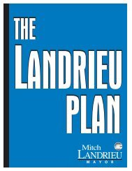 Landrieu's Plan for Rebuilding - Academic Program Pages at ...