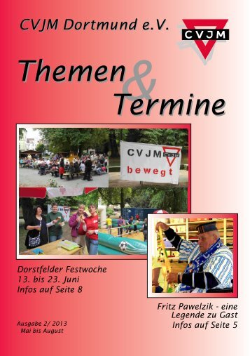 Dorstfelder Festwoche I3. bis 23. juni Infos auf Seite 8 - CVJM ...