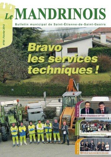 Bravo les services techniques - Ville-saint-etienne-de-saint-geoirs