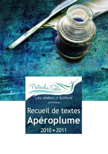 Recueil Apéroplume - Natacha Sels