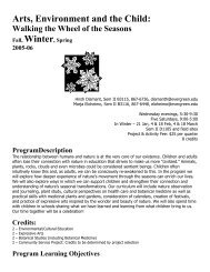 Syllabus - Academic Program Pages at Evergreen