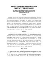 increasing wine sales in casual restaurants (refereed) - Academy of ...