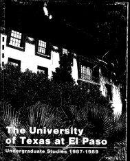 1 - Academics Portal Index > Home - University of Texas at El Paso