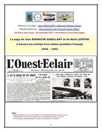 La Saga ASSOLLANT-LEFEVRE - Site personnel de François ...