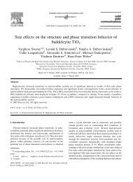 Size effects on the structure and phase transition ... - ResearchGate