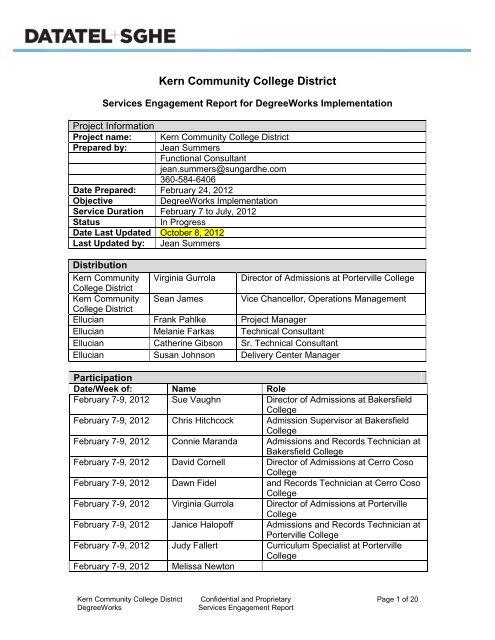 Addendum II B 3 - Accreditation - Bakersfield College