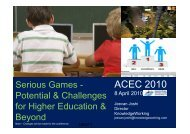 SeriousGames for Secondary Schools_ACEC2010_Jeevan Joshiv0.1