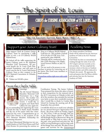 2007 06 jun newsletter chefs de cuisine association of - Chef de cuisine st louis ...