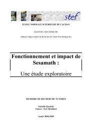 Fonctionnement et impact de Sesamath - Isabelle Quentin